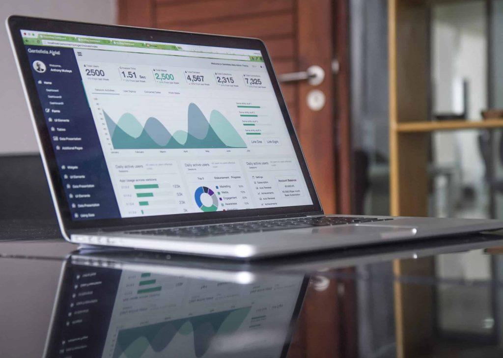 Dashboard showing analytics
